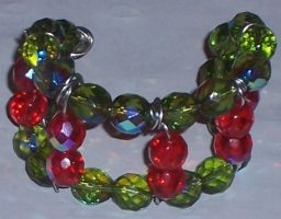 Christmas Wire Cuff Bracelet by Willys-Sweetheart
