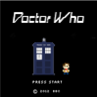 Doctor Who 8-bit Video Game Start Screen by HelloxxAlone