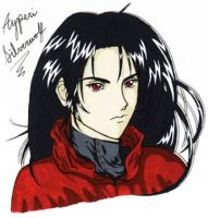 FF7 Vincent Valentine CellArt by LunarBerry