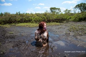 Elana Bohemia bound gagged in Quicksand Aug14 5139 by MichaelLeachPhoto