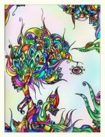 colored psychedelic tree by PsychedelicTreasures
