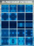 20 Blue Photoshop Patterns by graphex