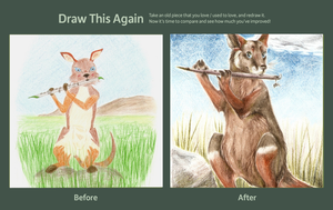 Draw this Again: Rock Wallaby by Meigas
