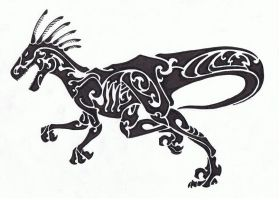 Tribal - Velociraptor by Helletic-Hybrid