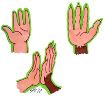 Hand Comparison by melissaduck