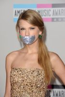 Taylor Swift duct tape gagged by ikell