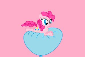 Pinkie Pie Balloon Ride by AmyRose459