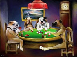 Dogs Playing Poker by ChangesHappen