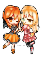 AT: Orange and Mikuru by Myebi