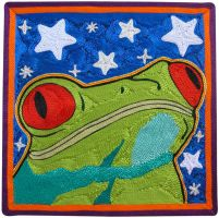 Grenouille dans le Cosmos - Frog in the Cosmos by ElvireClev