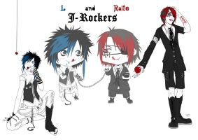 DN - L and Raito J-Rockers by Kumagorochan