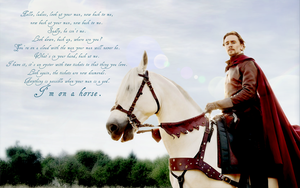 I'm on a Horse (1440x900, w/ Text) by hobbitgirlintardis