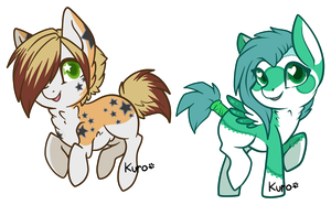 Alix and Vee Chibis by Kuro-Creations