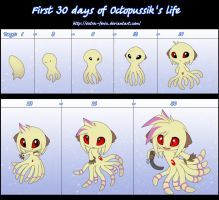 First 30 days of Octopussik's life by Extra-Fenix