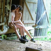 Gay Couple Kissing in the Barn by Felixdeon