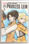Princess Leia sketch cover by Hesstoons