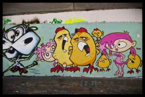 comic grafitti by CokeJunkee