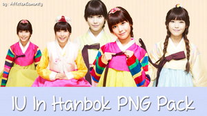 IU In Hanbok PNG Pack by AffxtionComunity