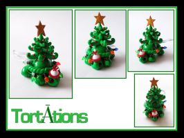Tannenbaum the Tiny Tort Christmas Ornament by Tortations