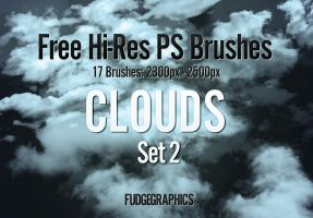 Hi-Res Clouds PS Brush Set 2 by fudgegraphics