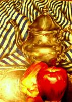 pot and apples by megan-alyce