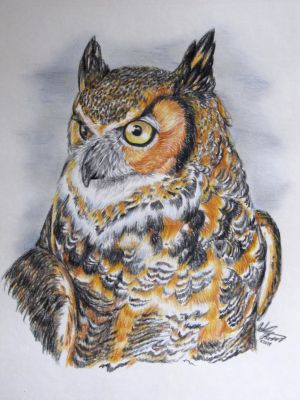 Great Horned Owl by FantasyToArt