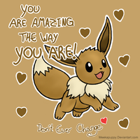 Eevee Valentines Card by MeekaPuppy