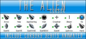 The Alien cursor 32bits by Xav73