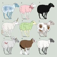 Sheep adoptables - Open - by Snow-sauria