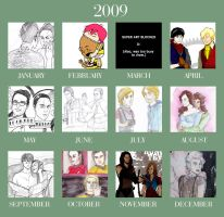 12 Months of Art 2009 by bunnyluz