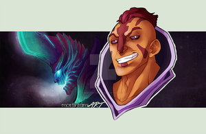 DOTA 2 -  Anti-mage and Terrorblade by mortinfamiART