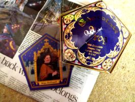 Chocolate Frog and Card by HollyVampasaurous