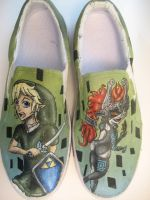 Legend of Zelda Custom Shoes by Acrylicolt