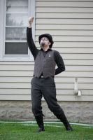 Steampunk Guy Hanging : 20 by taeliac-stock