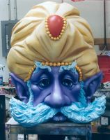 Genie Head painted by dreamfloatingby