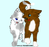 Hawkfrost and Ivypaw by OneBangBeauty