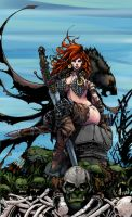 COLOR WIP:Red Sonja by Tadpole7