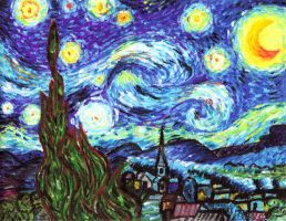 Vincent van Gogh: Starry Night by rodbenson