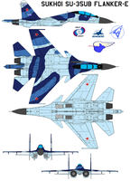 Sukhoi Su-35UB Flanker-E by bagera3005