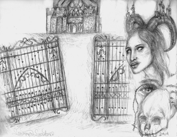 Gothic Doodle by SummerSucculence