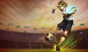 Striker Ezreal chinese artwork by Aveldine