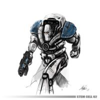 Stem cell 2 : Fighter Droid by MrTomLong