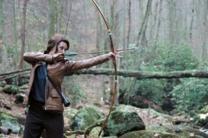 Katniss Hunting by Lady-Skywalker