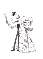 Sweeny Todd Invader Zim by SpacePirateRyoko
