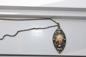 Filigree Cameo Necklace by XxQuothTheRavenxX