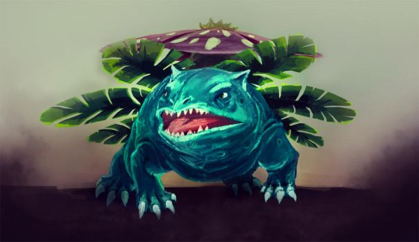 Gritty Venusaur by Numberslayer