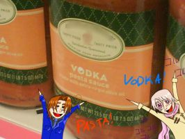 Vodka Pasta by CrazyNarutoFanatic