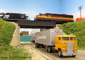 Wisconsin Central 6505 passes NS 2658 by EternalFlame1891