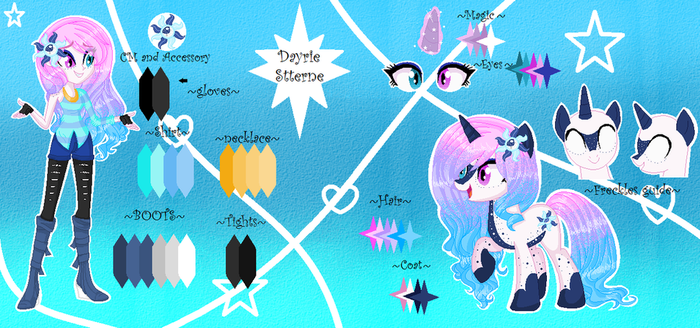 MLP Dayrie  Stterne New Oc Ref Sheet by YulianaPie26