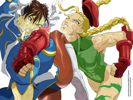 Chun Li Vs Cammy by chou-roninx